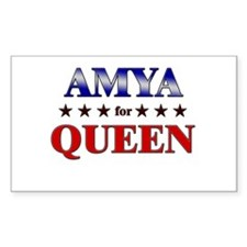AMYA for queen Rectangle Decal