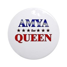 AMYA for queen Ornament (Round)