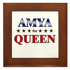 AMYA for queen Framed Tile