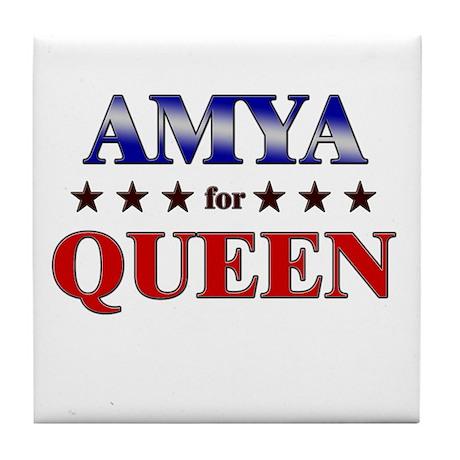 AMYA for queen Tile Coaster