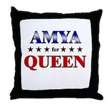 AMYA for queen Throw Pillow