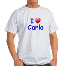 I Love Carlo (Blue) T-Shirt