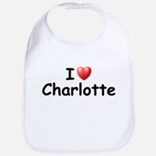I Love Charlotte (Black) Bib