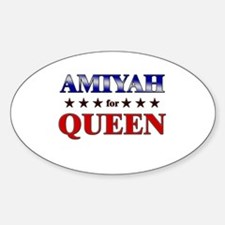 AMIYAH for queen Oval Decal