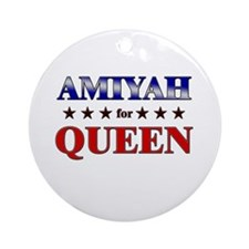 AMIYAH for queen Ornament (Round)