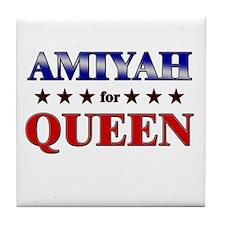 AMIYAH for queen Tile Coaster
