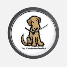 Yes it's a Labradoodle!! Wall Clock