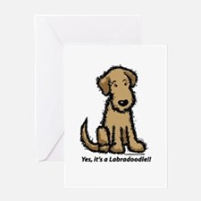 Yes it's a Labradoodle!! Greeting Card
