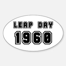 LEAP DAY 1960 Oval Decal