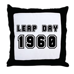LEAP DAY 1960 Throw Pillow