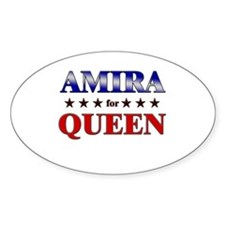 AMIRA for queen Oval Decal
