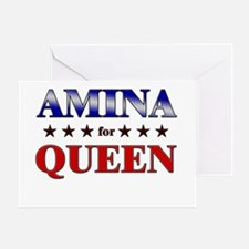 AMINA for queen Greeting Card