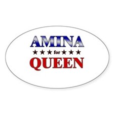 AMINA for queen Oval Decal