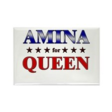 AMINA for queen Rectangle Magnet