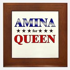 AMINA for queen Framed Tile