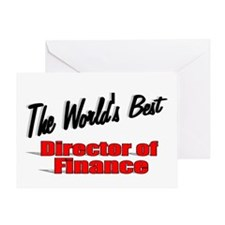 """ The World's Best Director of Finance"" Greeting C"