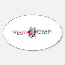 Republican Convention Oval Decal