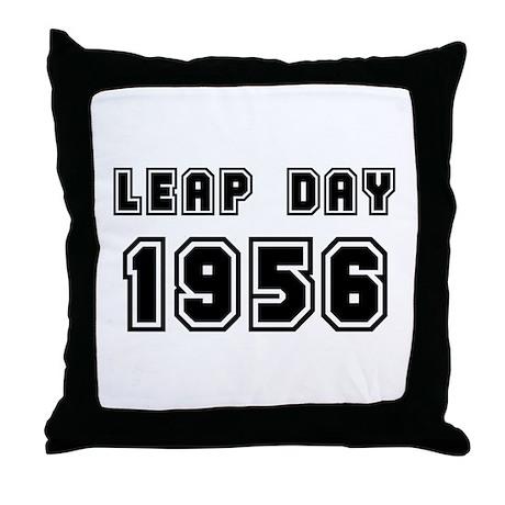 LEAP DAY 1956 Throw Pillow