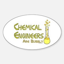 Chemical Engineers Oval Decal