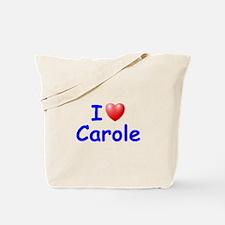 I Love Carole (Blue) Tote Bag