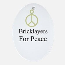Bricklayers Oval Ornament
