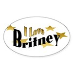 Britney Oval Sticker