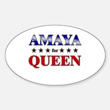 AMAYA for queen Oval Decal