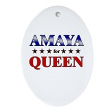 AMAYA for queen Oval Ornament
