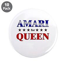 "AMARI for queen 3.5"" Button (10 pack)"