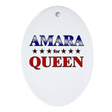AMARA for queen Oval Ornament