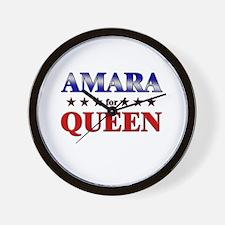AMARA for queen Wall Clock