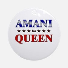 AMANI for queen Ornament (Round)