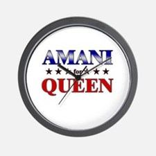AMANI for queen Wall Clock