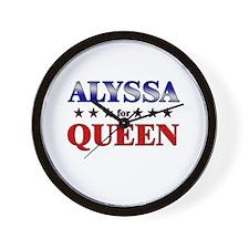 ALYSSA for queen Wall Clock