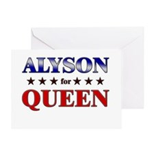 ALYSON for queen Greeting Card