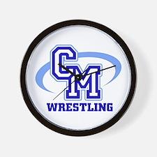 CM Wrestling 12 Wall Clock