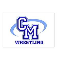 CM Wrestling 12 Postcards (Package of 8)