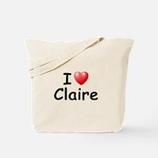I Love Claire (Black) Tote Bag