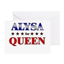 ALYSA for queen Greeting Card