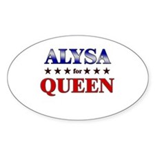 ALYSA for queen Oval Decal