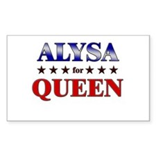 ALYSA for queen Rectangle Decal