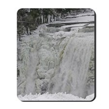 Wintertime Waterfall Mousepad