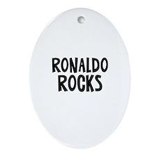 Ronaldo Rocks Oval Ornament