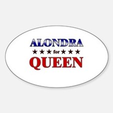 ALONDRA for queen Oval Decal