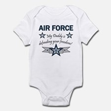 Air Force kids - Daddy defend Infant Creeper