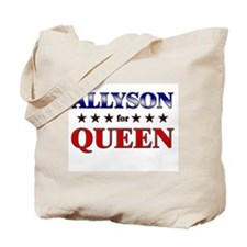 ALLYSON for queen Tote Bag