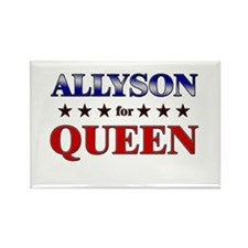 ALLYSON for queen Rectangle Magnet (10 pack)