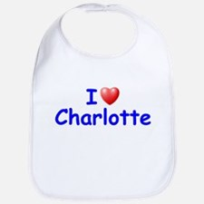 I Love Charlotte (Blue) Bib