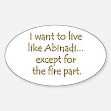 LDS Website- Abinadi Oval Decal