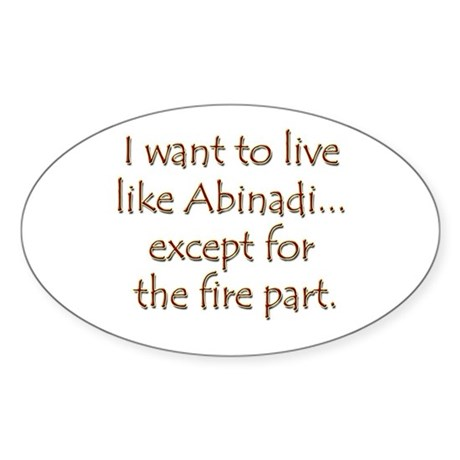 LDS Website- Abinadi Oval Sticker